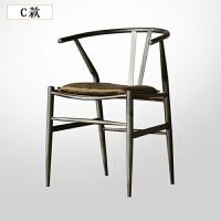 铁艺餐椅休闲吧椅子舒适靠背椅子茶几泡茶椅子现代简约餐椅木椅子