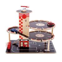 Hape停车场3-6岁过家家儿童益智木制玩具婴幼玩具过家家玩具E3002