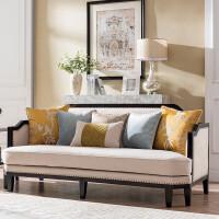 新中式轻奢沙发全实木家具后现代别墅小户型客厅布艺沙发组合沙发