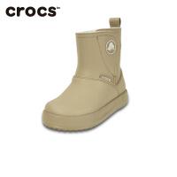 【秒杀价】Crocs卡骆驰童鞋毛绒短靴保暖卡乐彩暖绒小童靴|15840 卡乐彩暖绒小童靴