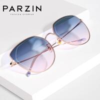 帕森2019夏季新品太阳镜 女士炫彩浅色俏皮猫眼框太阳镜遮阳防晒潮墨镜9558