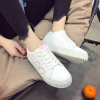 新款�n版�W生防滑女鞋休�e�\�有�子小白鞋女四季百搭女鞋