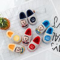 可爱小童保暖棉鞋 宝宝大头儿子儿童棉拖鞋 新款男童女童小孩柔软短毛绒鞋子