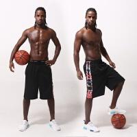 薄款宽松健身运动过膝五分篮球裤白色透气速干短裤男