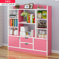 书架落地置物架简约现代简易小书柜经济型学生组合书架柜子置物柜