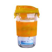 GLASS LOCK 三光云彩 韩国进口玻璃水杯 茶杯 RC105办公杯 �「羧裙杞禾�500ML黄色