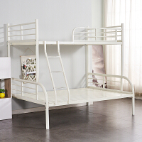 上下铺铁架床经济型双层床上下床高低铁床欧式铁艺 下铺150cm上铺120cm 梯子左右可以安装 其他 1.2米1.5米