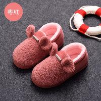 儿童棉拖鞋男童软底室内防滑女宝宝小孩1-3岁5居家鞋亲子拖鞋