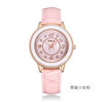 手表女学生韩版简约时尚潮流防水可爱粉初高中生皮带女款电子手表
