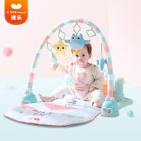 澳乐婴儿玩具健身架脚踏钢琴新生儿玩具0-3个月宝宝益智玩具0-1岁 跑跑熊健身架