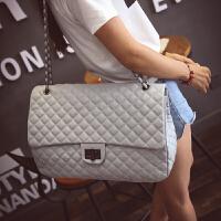 包包秋新款小香风菱格超大包欧美时尚潮链条女包锁扣单肩包手提包