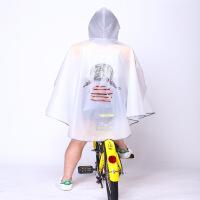雨衣自行车男女单人电动电瓶车韩式时尚透明单车骑行雨披d