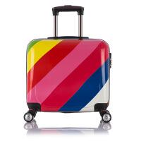 新款斑马纹拉杆箱万向轮PC子母登机箱时尚男女登机旅行箱 雅尚