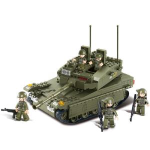 【当当自营】小鲁班陆军部队2军事系列儿童益智拼装积木玩具 梅卡瓦坦克M38-B0305
