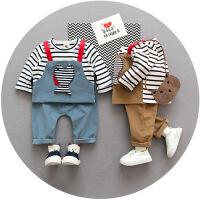 2男宝宝3男童4秋装0衣服装5婴幼儿6小孩棉长袖套装潮1岁半12个月8