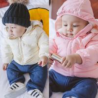 婴儿衣服女童外套秋冬装儿童新款中小童加绒加厚男童宝宝休闲棉衣
