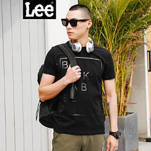 Lee男装2018春夏新品商场同款短袖T恤男黑色青年上衣L30270K99K11