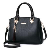 女包手提包新款韩版包包女中年女士包包妈妈包单肩斜挎包大包 黑色