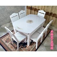 多功能圆桌现代简约实木家用餐桌椅组合方圆两用电磁炉伸缩折叠桌
