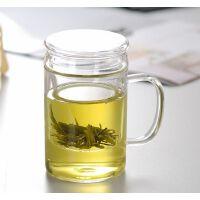 耐热玻璃杯 带盖过滤透明水杯 三件式套杯 花茶杯茶具