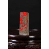 昌化鸡血石印章料 高4.7cm
