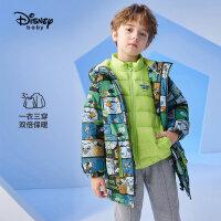 【2件4折券后价:314.5元】迪士尼童装男童羽绒服中长款儿童冬装中大童洋气时髦