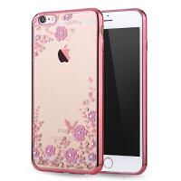 Q果 iPhone6s手机壳透明4.7水钻奢华女 苹果6S保护套 新款日韩