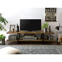 北欧实木电视柜小户型迷你简易客厅矮铁艺茶几电视柜组合简约现代 120*38*40cm高 木板厚3.5cm 组装