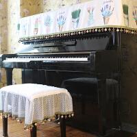 田园花园钢琴罩钢琴盖布钢琴凳罩钢琴盖巾钢琴防尘布钢琴凳套