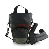 单反相机包三角单肩摄影包佳能80D70D700D760D尼康D7200D7100 黑色