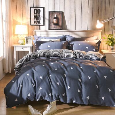 晶丽莱 全棉斜纹双人四件套 公主婚庆床单被套纯棉4件套被套2.0*2.3米 床单2.3*2.45米
