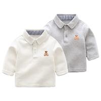 春秋装女婴儿上衣2个月3男宝宝春季休闲百搭T恤6打底衫童装