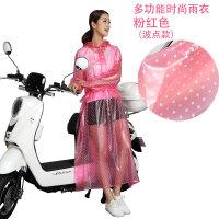 透明连衣裙雨衣踏板电动车有袖旅游步行骑行时尚成人徒步雨衣