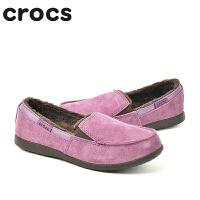 【3折价】Crocs单鞋女清仓卡骆驰墨尔本反绒平底鞋休闲单鞋|12972 女士墨尔本麂皮轻便鞋
