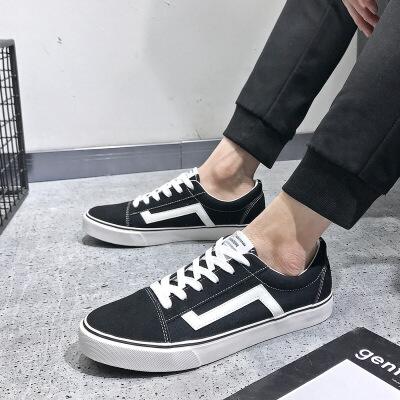 2019春季新款男士帆布鞋男鞋韩版休闲鞋潮学生运动板鞋男