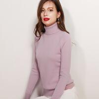 秋冬新款羊绒衫女高领套头短款羊绒毛衣长袖打底衫针织衫