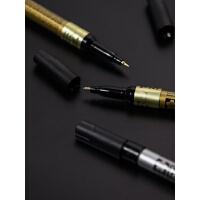 樱花油漆笔不掉色防水金色笔diy高光白笔彩色记号笔黑卡纸专用笔