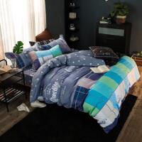 福存家居 四件套床笠式全棉加厚夹棉被套枕套床罩1.2米1.5米1.8米床
