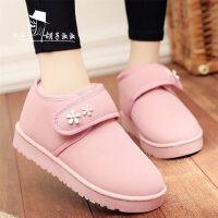 加厚加绒保暖女鞋防滑棉鞋女士短靴学生靴子韩版短筒雪地靴女