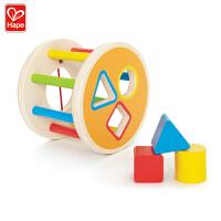 Hape积木滚滚乐1-2岁早教分类积木盒益智儿童婴幼玩具木制玩具E0500