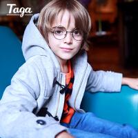TAGA 秋冬装新款童装男童大衣中大童风衣儿童夹棉外套