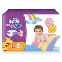 [当当自营]安儿乐 极薄小轻芯婴儿纸尿裤L80片(适合体重9kg -14kg)