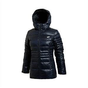 乐途短款羽绒服女士运动生活系列保暖连帽冬季80%白鸭绒运动服EYMJ016