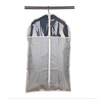 侨丰 精品收纳专家系列 短款西服套 衣物防尘罩 防尘套卡其色灰色菱格均码 U6111