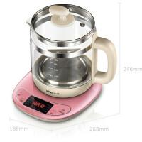 小熊(Bear) 家用电器 1.5L玻璃加厚电水壶养生杯 煮茶煎药壶养生壶YSH-B18W2玫瑰红色