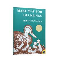 Make Way for Ducklings 让路给小鸭子Robert McCloskey  罗伯特・麦克洛斯基 1942年 凯迪克金奖 廖彩杏推荐 美国Top 100百本必读英文原版绘本 送音频