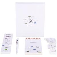 得力68886B中小学生文具套装韩风创意简约铅笔中性笔书写礼盒装