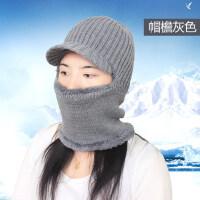 毛线帽子男女针织套头加厚保暖骑车蒙面东北防风寒围脖护耳