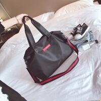 短途旅行包女轻便简约手提行李袋男出差旅游大容量尼龙防水健身包 中