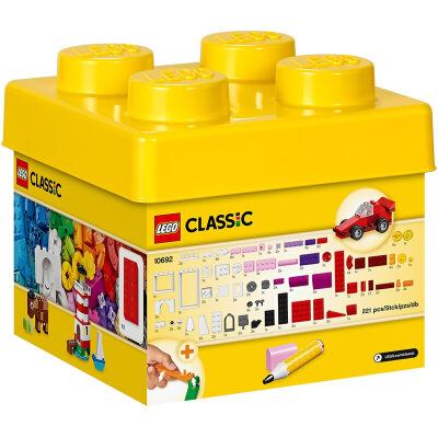【当当自营】LEGO乐高积木经典创意Classic系列10692  经典创意小号积木盒 【乐高圣诞倒计时】创意无限,妙不可言,开启丰富的想象力!